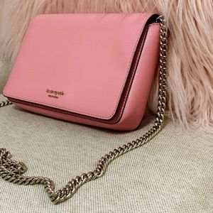 Kate Spade ♠️ Pink Spencer Chain Wallet